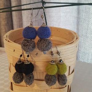 Handmade Wool Earrings